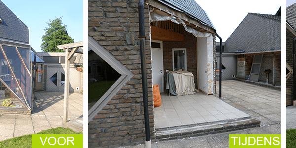 herstelling veranda - renovatie veranda - nazicht veranda
